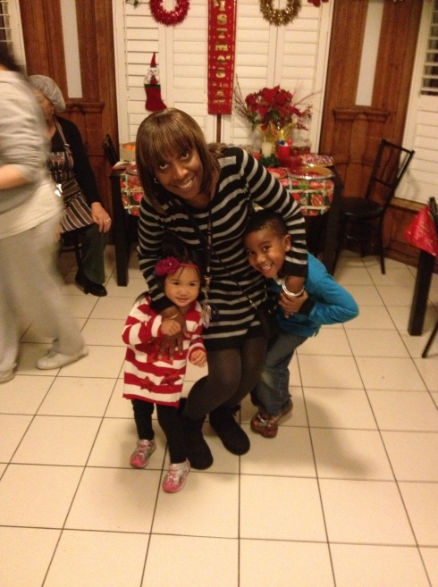 Maureen with kids